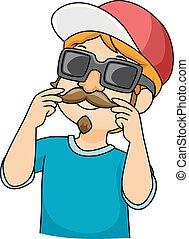 Kid Boy Disguise Illustration