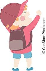 Kid Boy Empowered Illustration
