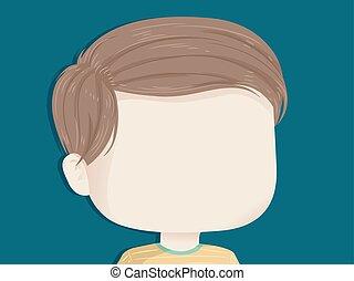 Kid Boy Face Background Illustration