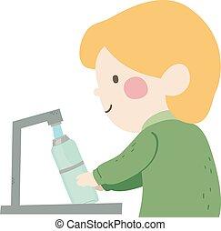 Kid Boy Fill Water Bottle Illustration