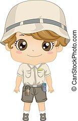 Kid Boy Keeper Illustration