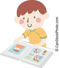 Kid Boy Look Album Illustration