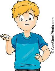 Kid Boy Low Allowance Illustration