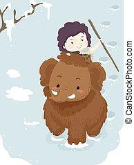 Kid Boy Mammoth Ice Age