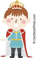 Kid Boy Medieval King Illustration