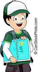 Kid Boy My Adventure Book