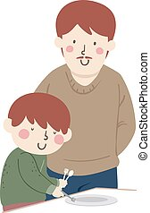 Kid Boy Occupational Therapy Blind Illustration - ...