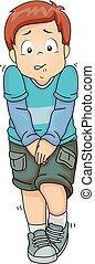 Kid Boy Pee Illustration