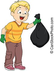 Kid Boy Plastic Garbage Bag