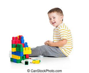 kid boy playing