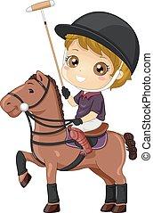 Kid Boy Polo Illustration