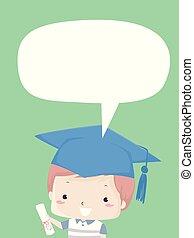 Kid Boy Primary Level Graduate Illustration