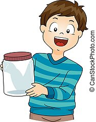 Kid Boy Science Jar