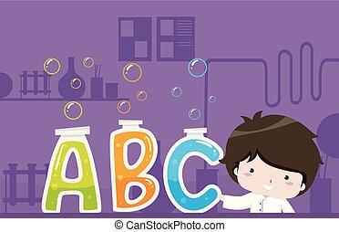 Kid Boy Scientist Illustration