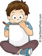 Kid Boy Sketch Book Write