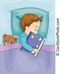 Kid Boy Sleeping Book