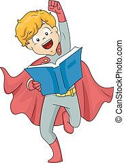 Kid Boy Superhero Book