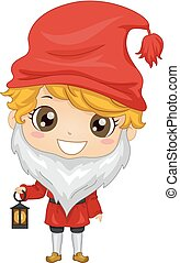 Kid Boy Sweden Tomte Costume Illustration - Illustration of...