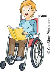 Kid Boy Wheelchair Book