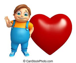 Kid boy with Heart