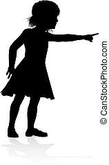Kid Child Silhouette - Silhouette of girl kid child having...