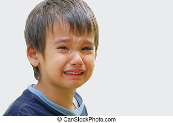 Kid crying - A little cute kid is truly crying and droping...