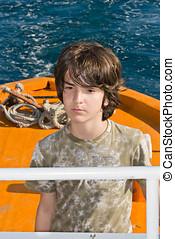 Kid Driving a Pilot Boat