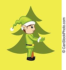 Kid Elf Character Side View