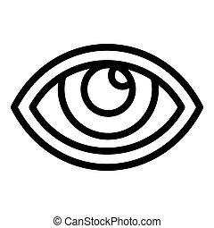 Kid eye icon, outline style