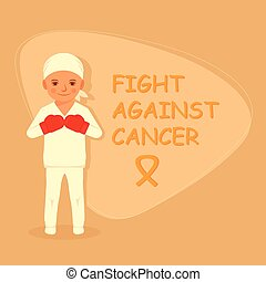 kid fighting cancer, chemotherapy treatment, child with tumor