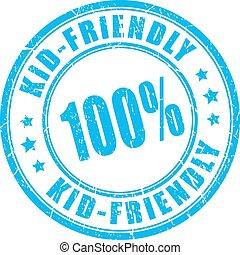 Kid friendly vector stamp