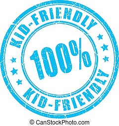 Kid friendly vector stamp
