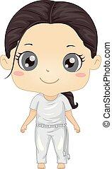 Kid Girl Capoiera Illustration