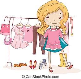 Kid Girl Capsule Wardrobe Illustration
