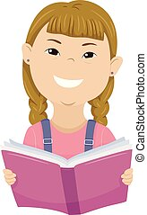 Kid Girl Down Syndrome Book Illustration - Colorful...