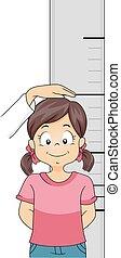 Kid Girl Height Measurement
