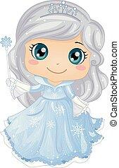 Kid Girl Ice Princess Illustration