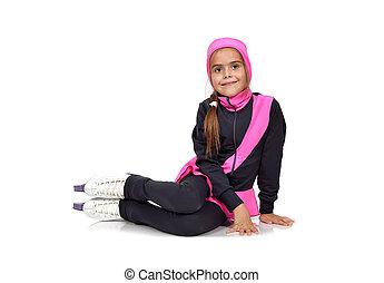 kid girl in skates