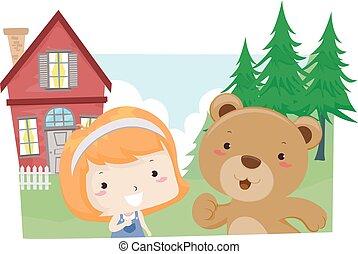 Kid Girl Lesson Bear Live