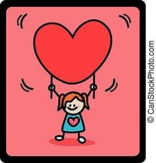kid girl love banner