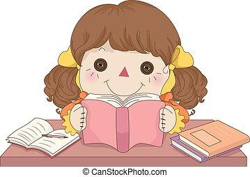 Kid Girl Rag Doll Study