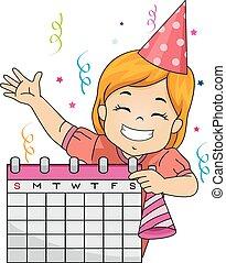 Kid Girl Schedule Party