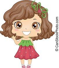 Kid Girl Strawberry Dress