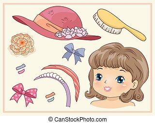 Kid Girl Vintage Hair Accessories