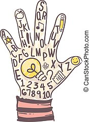Kid Hand Learn Idea Illustration