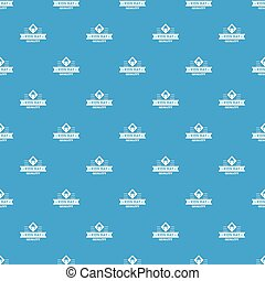 Kid hat pattern vector seamless blue repeat for any use