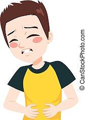 Kid Having Stomachache