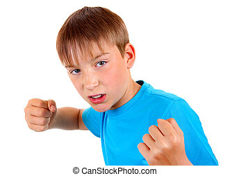 Kid in Boxer Pose