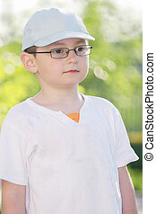 Kid in eyeglasses
