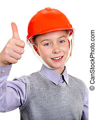 Kid in Hard Hat